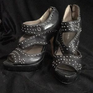 Vince Camuto black studded heels